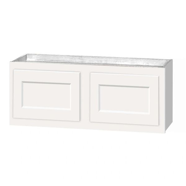 D White wall cabinet 36w x 12d x 12h (local pickup only).