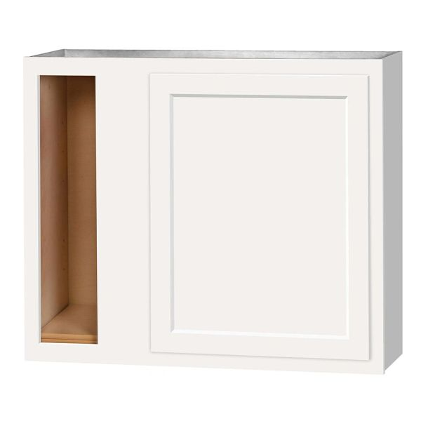 D White wall Corner cabinet 36w x 12d x 36h (Local Pickup Only)