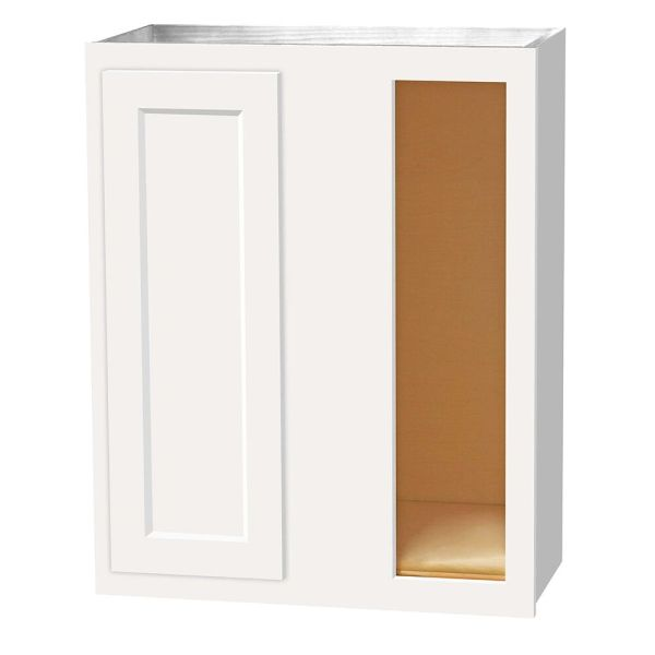 D White Shaker wall Corner cabinet 24w x 12d x 30h (Local Pickup Only)