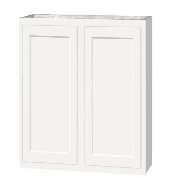 D White shaker wall cabinet 30w x 12d x 30h (Local Pickup Only)