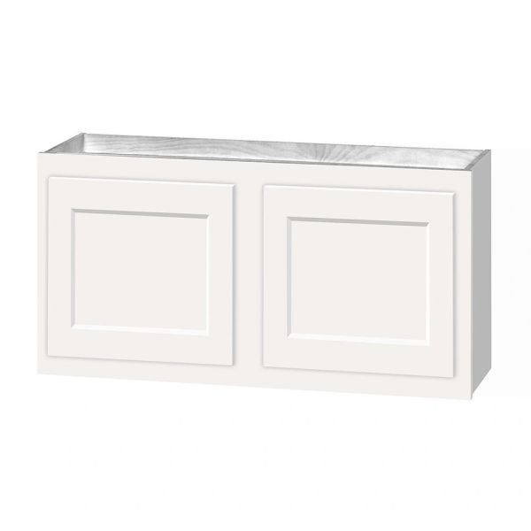 D White shaker wall cabinet 30w x 12d x 18h Local pick up only.