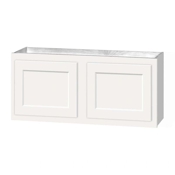 D White shaker wall cabinet 30w x 12d x 15h Local pick up only.