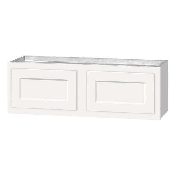 D White shaker wall cabinet 30w x 12d x 12h (local pickup only).