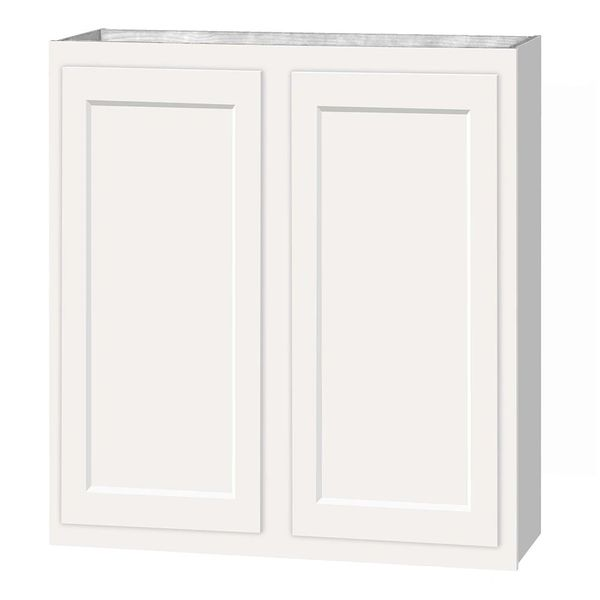 D White shaker wall cabinet 27w x 12d x 30h (Local Pickup Only)