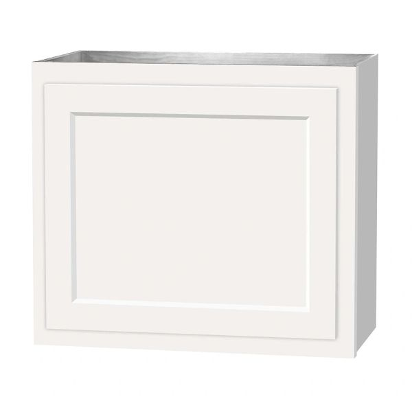 D White shaker wall cabinet 24w x 12d x 21h (local pickup only).