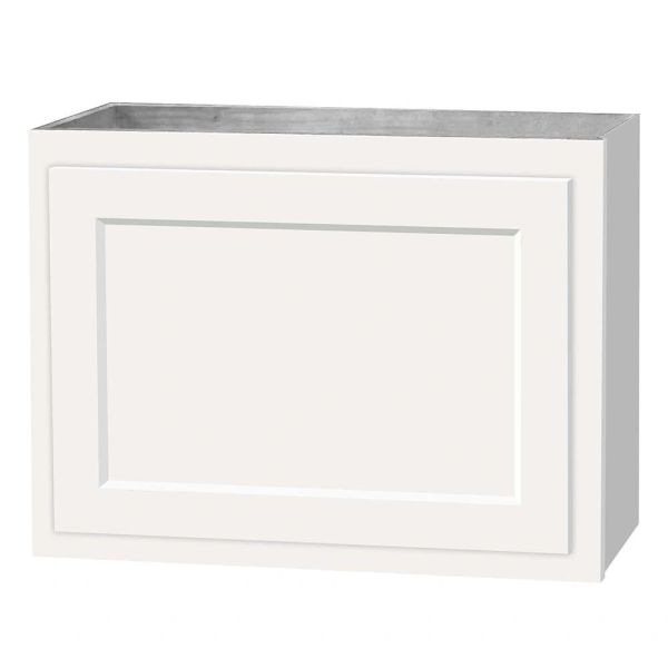 D White shaker wall cabinet 24w x 12d x 18h (local pickup only).