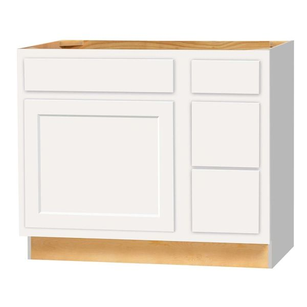 "D White shaker Vanity Base cabinet 36""w x 21""d x 30.5""h with Drawers (Local Pickup Only)"