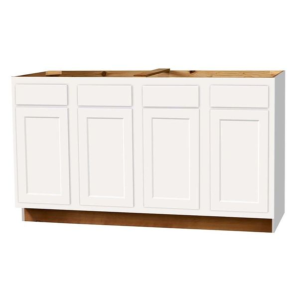 D White shaker Sink Base cabinet 60w x 24d x 34.5h (Local Pickup Only)