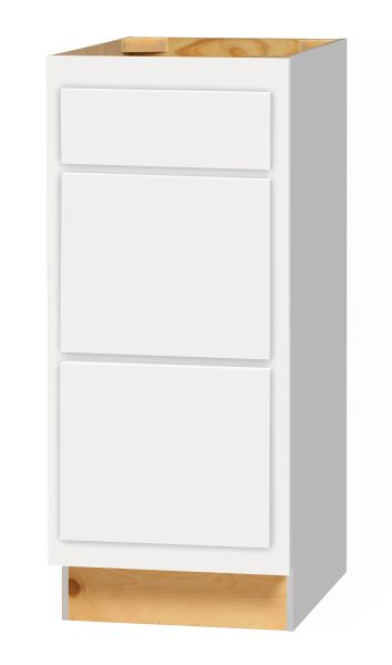 D White Shaker 3 Drawer Base cabinet 15w x 24d x 34.5h (Local Pickup Only)