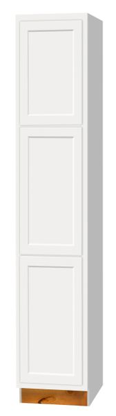 "D White shaker Broom cabinet 18""w x 12""d x 90""h (Local Pickup Only)"