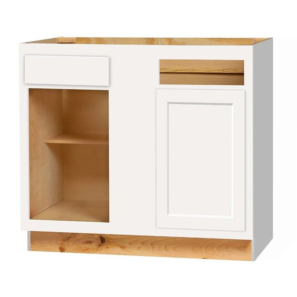 D White shaker Blind Base Corner cabinet sets 42w x 24d x 34.5h (Local Pickup Only)