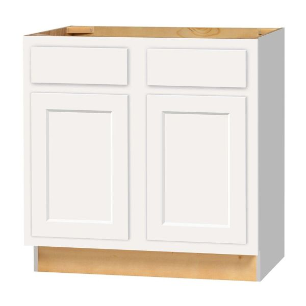 D White shaker Base cabinet 33w x 24d x 34.5h (Local Pickup Only)