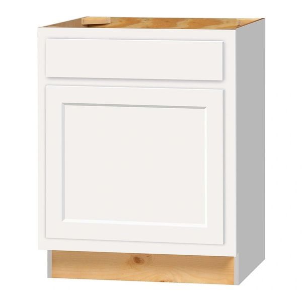 D White shaker Base cabinet 27w x 24d x 34.5h (Local Pickup Only)