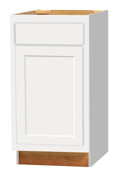 D White Base cabinet 18w x 24d x 34.5h (Local Pickup Only)