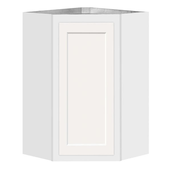 D White shaker Angle wall cabinet 24w x 12d x 36h (Local Pickup Only)