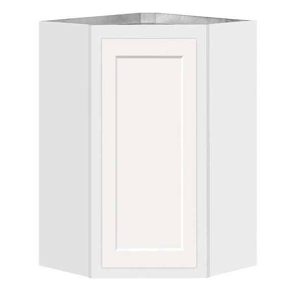 D White shaker Angle wall cabinet 24w x 12d x 30h (Local Pickup Only)