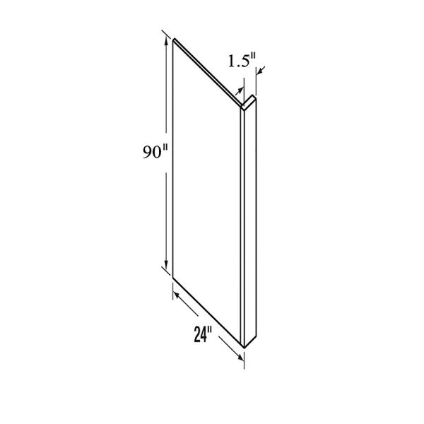 """D White Refrigerator End Panel 3"""" x 24"""" x 90"""" (local pickup only)."""