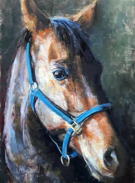Giclee Print by Wayne E Campbell ( Quarter Horse) 11x14