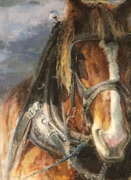 "Oil Paintings by Wayne E Campbell (Jordan Up Close) 24"" x 18"""