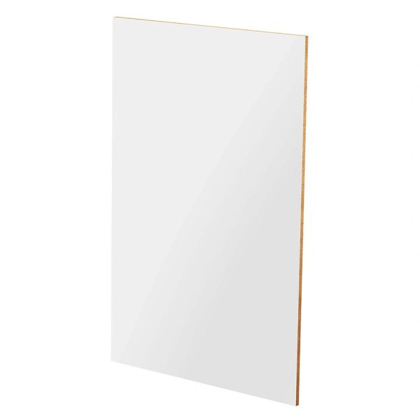 "D White Base end panel 1/2"" x 23.5"" x 34.5"""