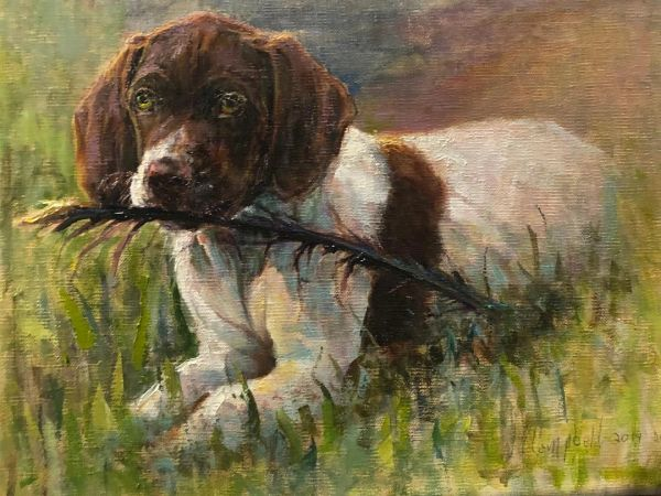 (Max Puppy) Original Oil painting by Wayne Campbell