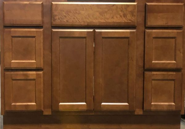 Bristol Brown Vanity base cabinet 60w x 21d x 34.5h (Local Pickup Only)