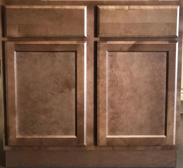Bristol Brown Vanity base cabinet V24w x 21d x 34.5h no drawers (Local Pickup Only)