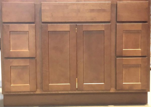 Shaker Salem Brown Vanity base cabinet 60w x 21d x 34.5h (Local Pickup Only)