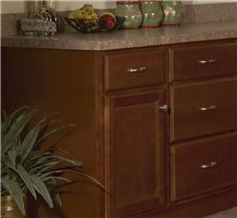 Bristol Brown Vanity base cabinet V30w x 21d x 34.5h Right drawers (Local Pickup Only)
