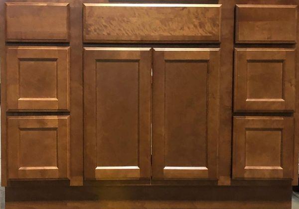 Bristol Brown Vanity base cabinet V42w x 21d x 34.5h (Local Pickup Only)