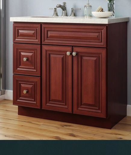"""Georgetown Vanity Base cabinet with Drawers 36""""w x 21""""d x 30.5""""h Drawers Right(Local pick up only."""