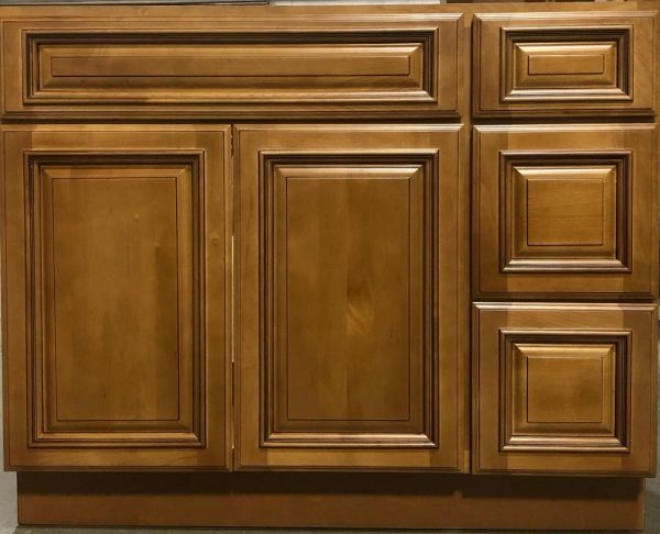 """Kingston Vanity Base cabinet with Drawers Right 42""""w x 21""""d x 34.5""""h (Local pickup only)."""