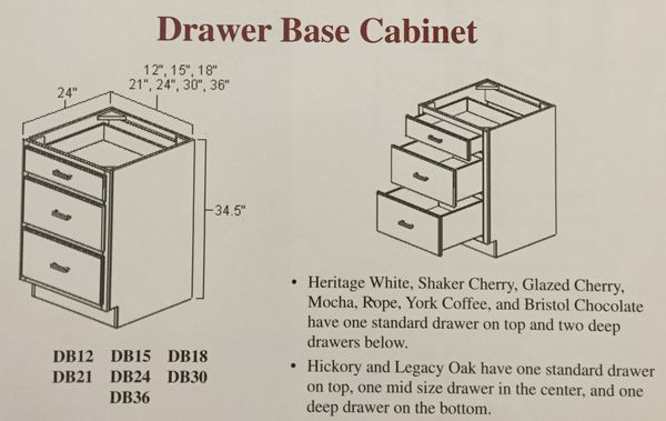 "BGH 18"" wide Drawer Base Cabinet 3 drawer (Local Pickup Only)"