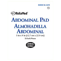 ABDOMINAL PAD 5in x 9in 25/EACH