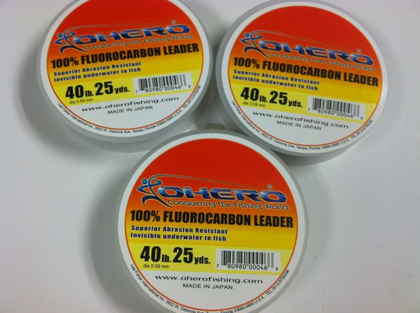 OHERO PREMIUM FLUOROCARBON LEADER FISHING LINE 25 yards