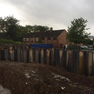 piling job in front of a house