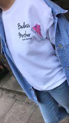 Badass mother + trainer patch sweatshirt