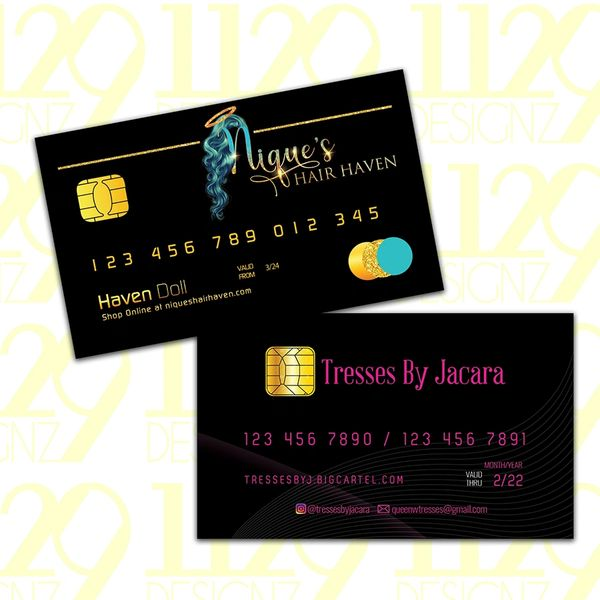 Business Cards (Credit Card Theme)