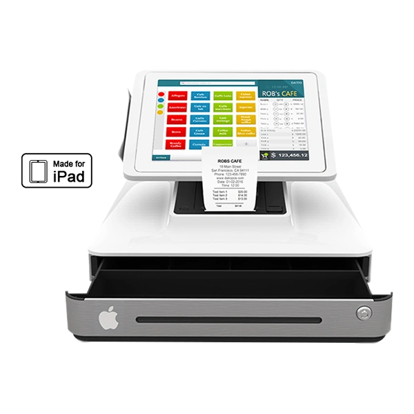 Datio Point of Sale Base Station and Cash Register for iPad for Retail, Restaurant, Pizza and Salon