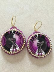 Earrings - Purple Bandana