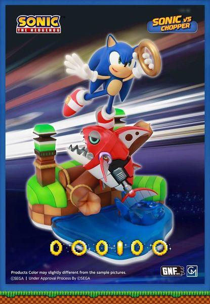GNF Sonic diorama sonic vs. chopper (sold out)
