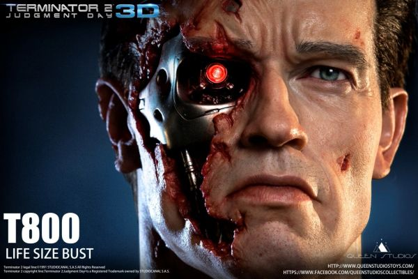 Queen Studios T800 Life Size Bust - Sold Out