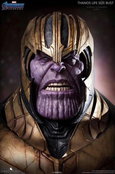 Queen Studios End game : Thanos Life Size Bust - Sold out
