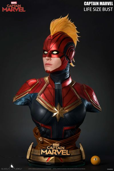 Queen Studios 1/1 Captain Marvel Bust (Limited 500pic)