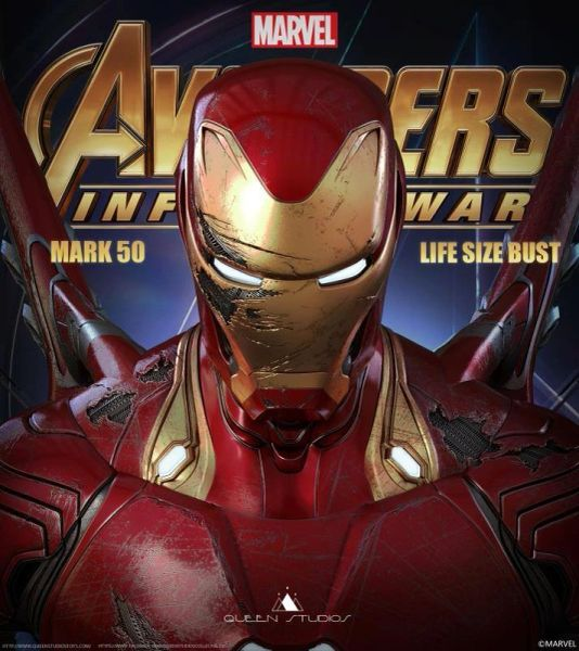 Queen Studios 1/1 Ironman Mk 50 Battle Damage Version - Sold Out