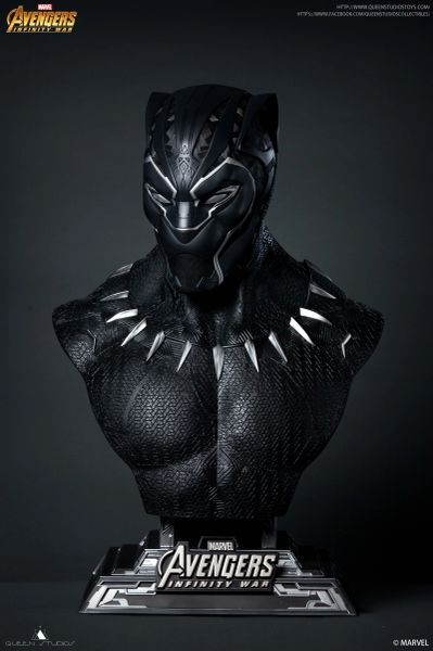 Queen Studios 1/1 Black Panther Bust Limited to 600pic - Sold out