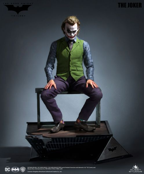 Queens Studio 1/3 The Dark Knight - Joker Full Body Statue (Sculpted Hair)