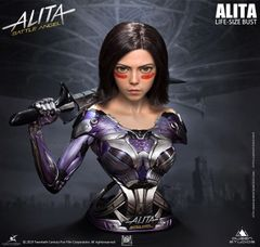 Queens Studio Alita Battle Angel 1:1 Life-size Bust (Normal Ver) - Pre Order