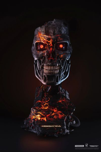 Pure Art TERMINATOR 2 BATTLE DAMAGED T-800 ART MASK (Sold Out)