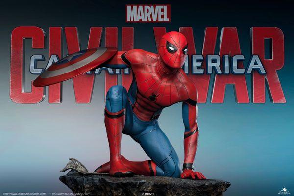 Queen Studios 1/4 Spider-Man Captain America: Civil War Statue (Regular) PO